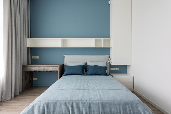 Blue-indicator-wall