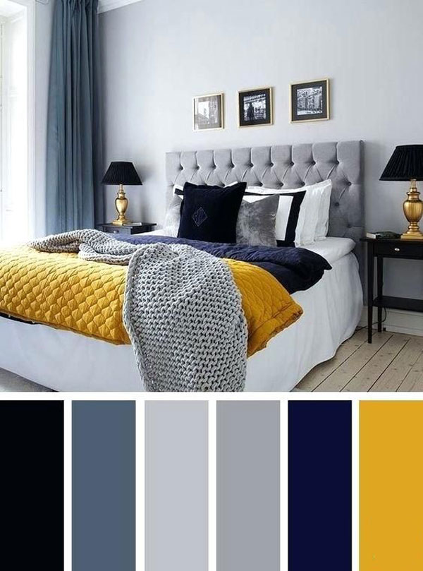 combination-of-blue-and-yellow-bedroom