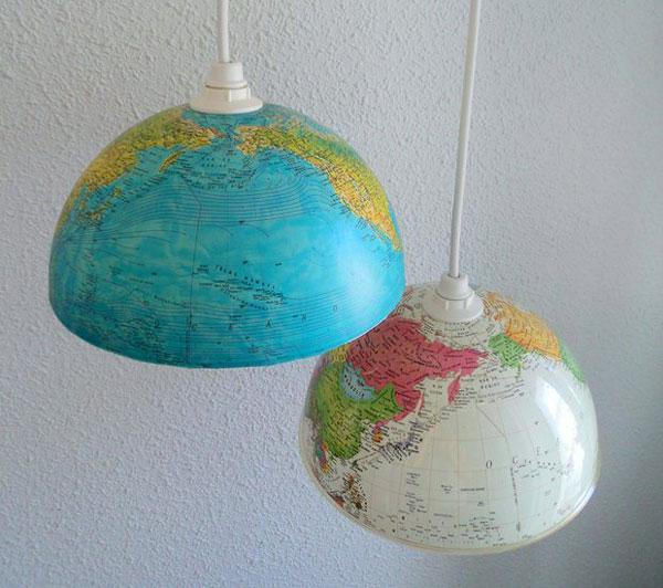 World Globe lamp DIY